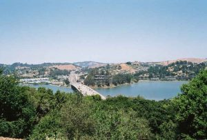 Bild von der Bruecke der CA 101 in Marin County, Kalifornien