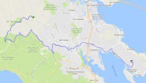 Motorrad-Bergtour auf den Mt. Tam in Kalifornien