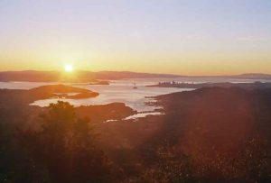 Bild vom Gipfel des Mt. Tam in Kalifornien bei Sonnenaufgang