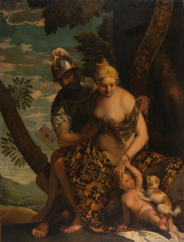 Gemaelde von Paolo Veronese: Mars und Venus unter einem Baum