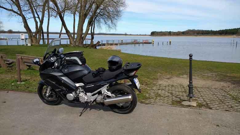 Bild von der Rast auf einer Rast in Semlin am Hohennauener See auf einer Havel Motorradtour