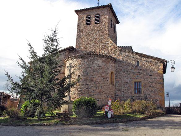 Bild der romanischen Kirche in Chambost-Allières im Beaujolais