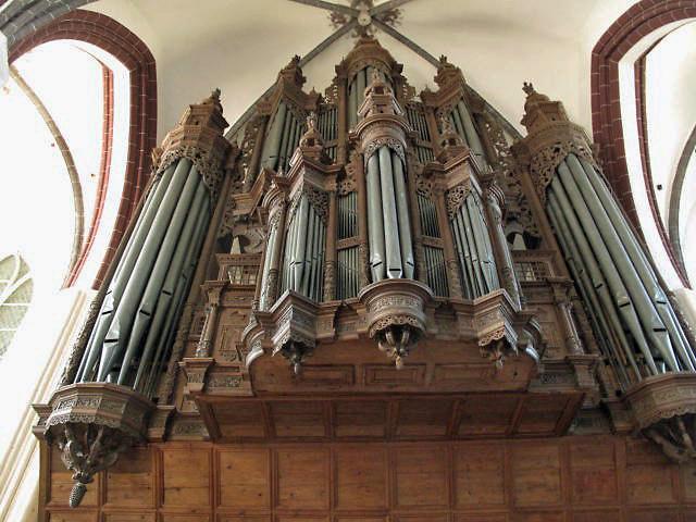 Bild von der 1624 geschaffenen Scherer Orgel Stephanskirche Tangermünde