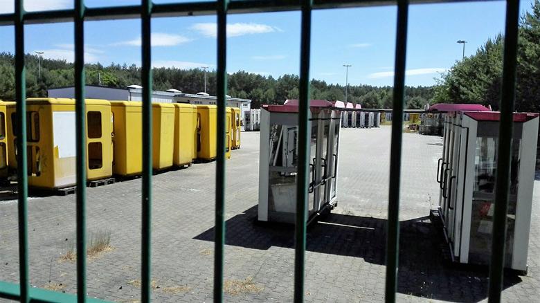 Telefonzellenlager der Deutschen Telekom in Michendorf in Brandenburg