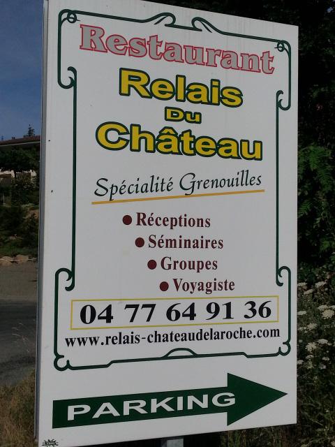 Bild von einem Froschrestaurant in Frankreich am Chateau de la Roche im Roannais