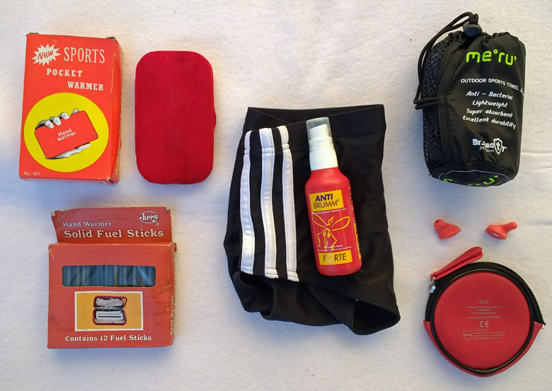 8 Gegenstände, die zur Saisonausstattung des Tankrucksacks gehören