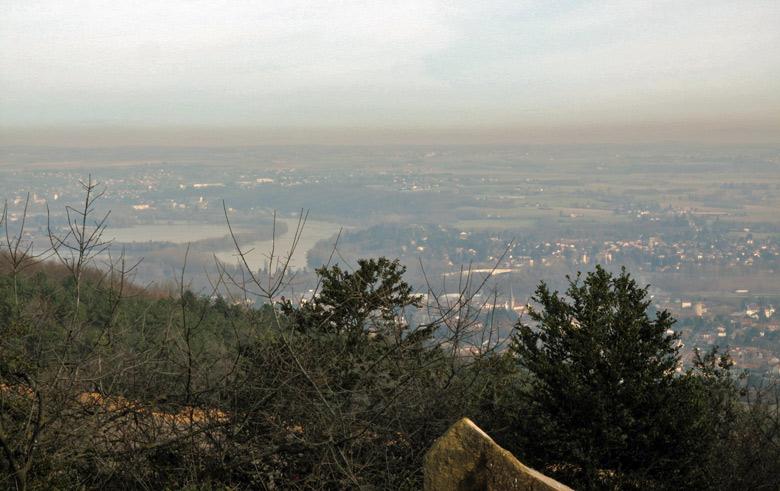 Bild vom Blick über das Rhonetal