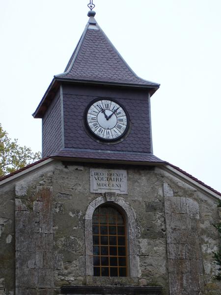 Bild von der Schlosskirche Ferney-Voltaire bei Genf