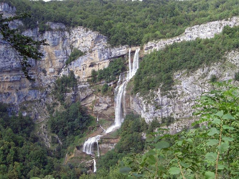 Wasserfall der Albarine im Département Ain