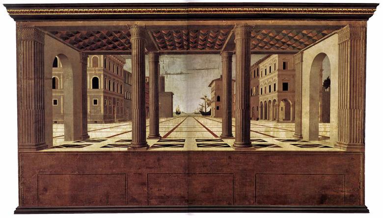 Ideale Stadt der Renaissance in bildlicher Vorstellung
