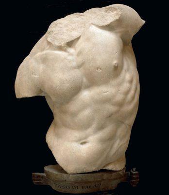 Bild von einem marmornen Torso eines Kentauren