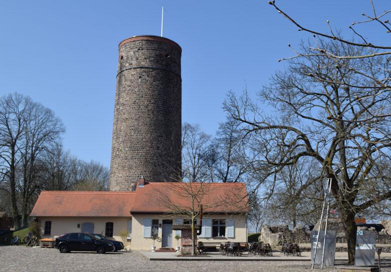 Bild vom Bergfried Burg Eisenhardt in Bad Belzig, Brandenburg, Deutschland