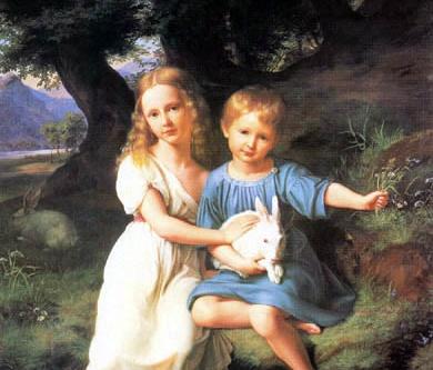 Bild von Wilhelm Schadow, Kinder des Künstlers │ Foto: Kunstmuseum Düsseldorf
