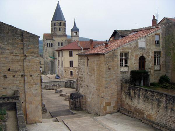 Überreste der Abtei Cluny Burgund