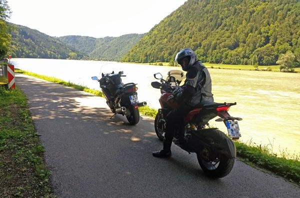 Bild von einem Traumsträßchen an der Donauschleife, das ist die beste Motorradstrecke durch den Bayerischen Wald