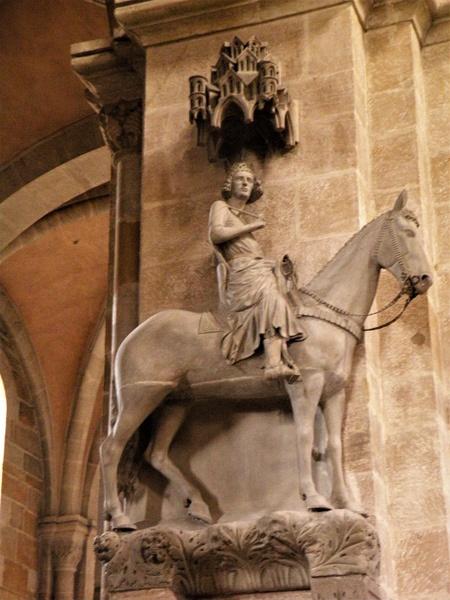 Bild vom Bamberger Reiter im Dom von Bamberg