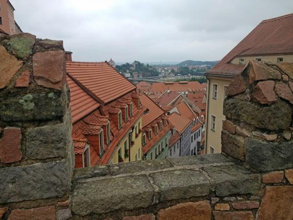 Blick auf die Meißener Altstadt von der Albrechtsburg aus