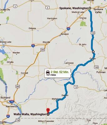 Karte der 12. Etappe Motorradtour Rocky Mountains