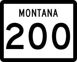Strassenschild des Montana Hwy 200