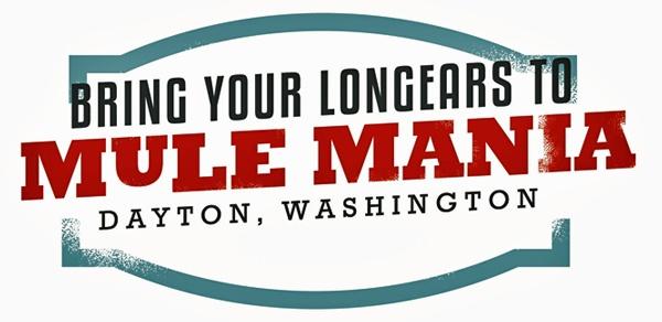 Bild von einem Werbeschild für die Mule Mania in Dayton, WA