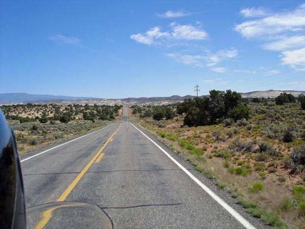 Bild von der Utah State Route 12 mit Fernblick
