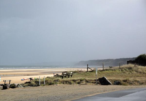 Omaha Beach in der Normandie mit Blick nach Osten