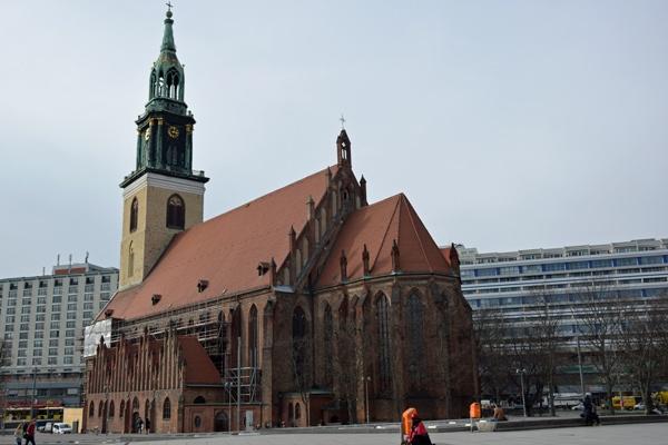 Marienkirche in Berlin als Startpunkt einer Motorrad-Pilgertour nach Bad Wilsnack