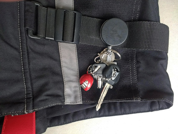 Hausmeister-Seilzug-Schlüsselbund als Geschenk für Motorradfahrer