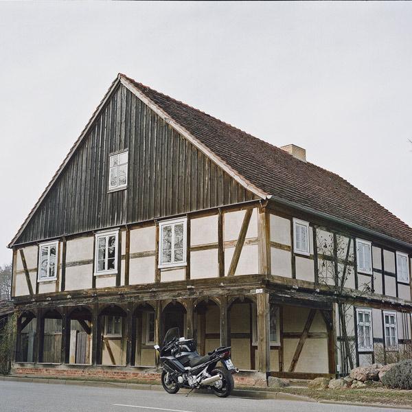 Denkmalgeschütztes Vorlaubenhaus in Garz