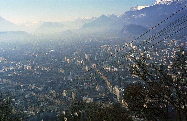 Panorama von Grenoble vom Fort St-Eynard aus