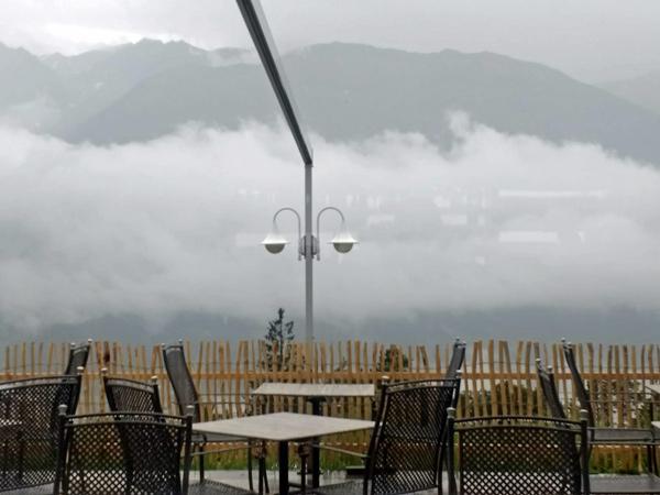 Schlechtwetterfront im Inntal am Ende einer Motorradtour nach Süditalien