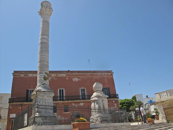 Römische Säulen am Ende der Via Appia in Brindisi