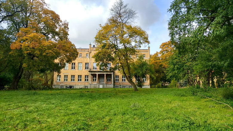 Schloß Tamsel (Dąbroszyn) in der Neumark, Gartenansicht