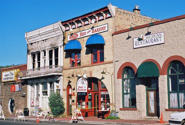 Motorradtour planen: Übernachtung in Bed and Bakery in Williams, AZ (USA)