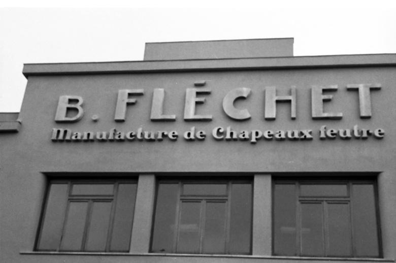 Ehemaliges Verwaltungsgebäude der früheren Hutfabrik Fléchet in Chazelles-s.-L. in Frankreich