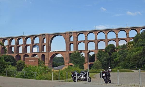 Brücke, auf Motorradtouren: Göltzschtalbrücke bei Reichenbach im Vogtland