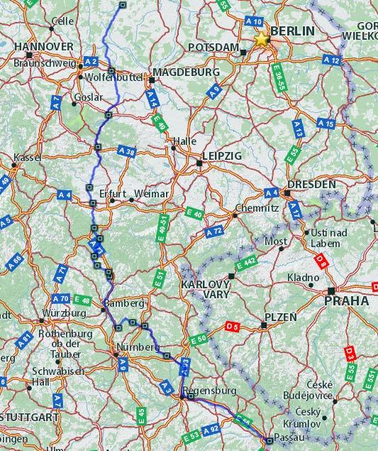Die beste Süd-Nord-Motorradstrecke durch Deutschland