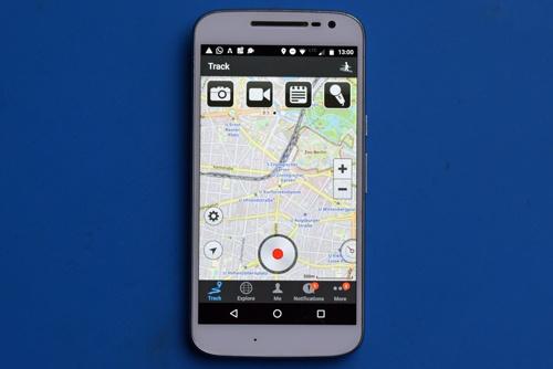 ramblr app als Beispiel für beste Smartphone-Apps für Motorradtouren