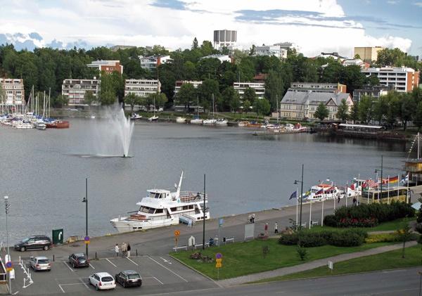 Hafenansicht von Lappeenranta in Finnland