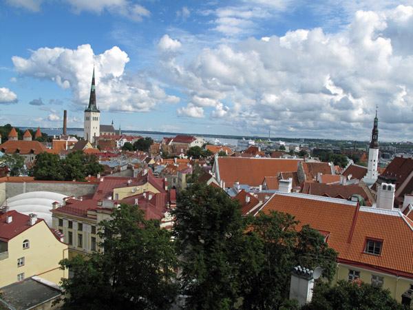 Stadtpanorama vom Tallinn