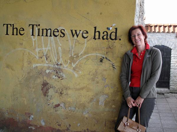 Wandbeschriftung The Times we had mit rothaariger Frau