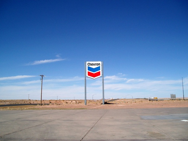 Einsame Tankstelle in Arizona, bei einer USA-Motorradtour vom Pazifik zum Atlantik