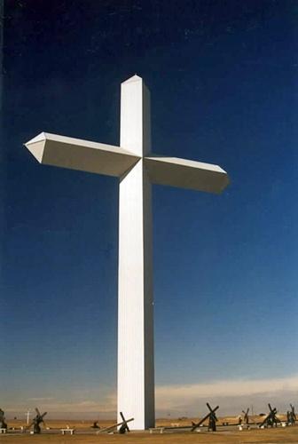 Weißes Kreuz in Groom, TX