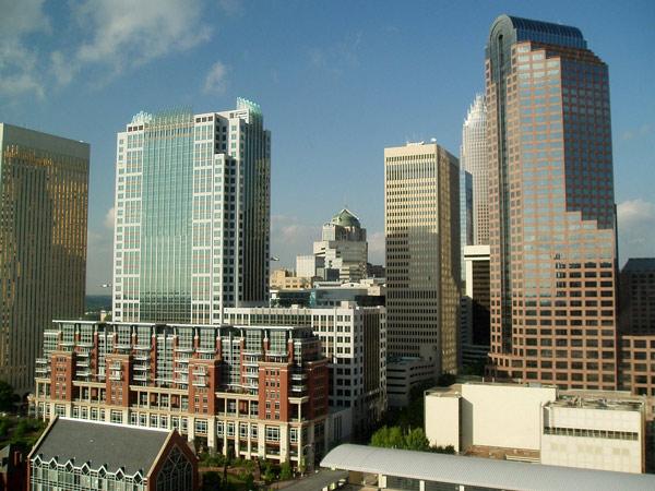 Skyline von Charlotte, NC