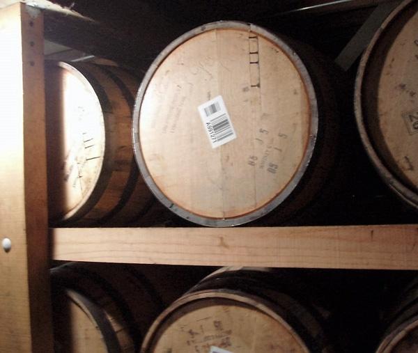 Whiskyfässer in der Jack Daniels Whisky Destillery in Lynchburg, TN