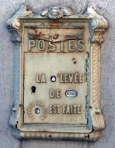Alter Briefkasten in Bramans (Dept. Savoie, Frankreich)