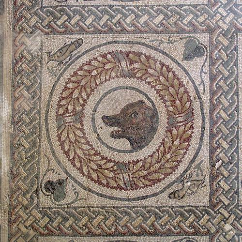 Mosaik in der Römischen Villa von Piazza Armerina, Sizilien