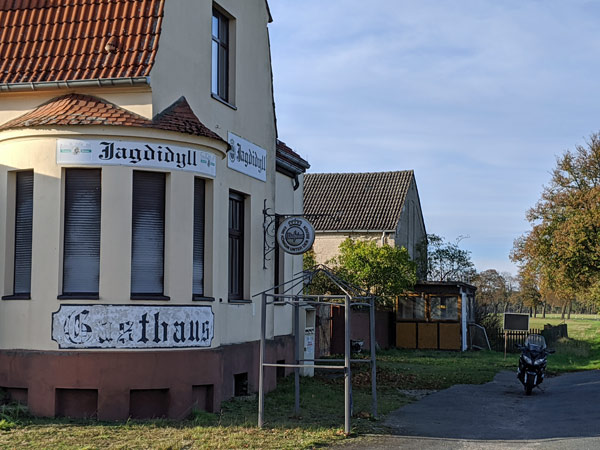 Kneipensterben auf dem Lande: Ehemaliges Gasthaus Jagdidyll in Rüthnick, Lkr. Oberhavel