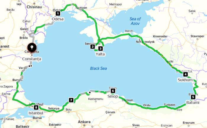 motorrad-tourentraeume 2021: motorradtour rund um das schwarze meer
